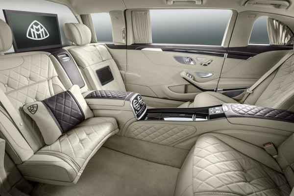 Mercedes-Maybach Pullman limuzina interior spate