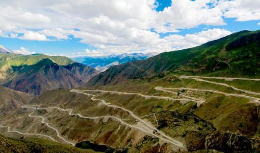 Autostrada Sichuan - Tibet, China