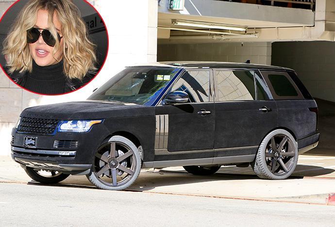 Khloe Kardashian masina catifea range rover