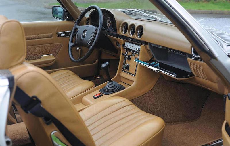 mercedes sl350 nicolae ceausescu interior