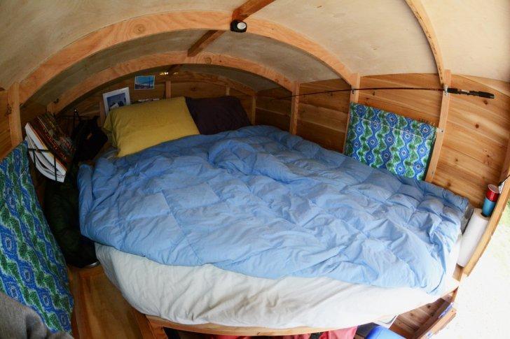 cabana lemn masina portbagaj 2