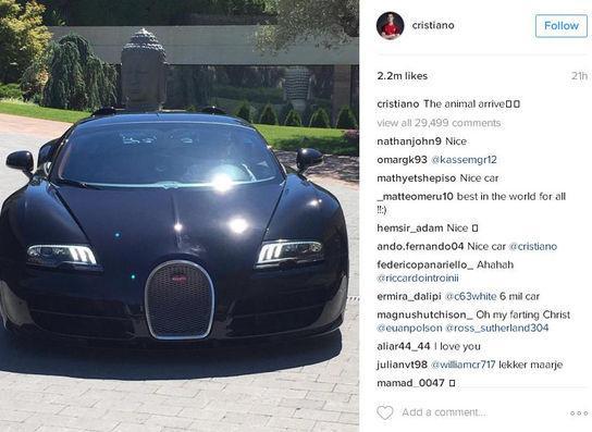 Bugatti Veyron Grand Sport Vitesse cristiano ronaldo