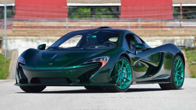 McLaren P1 carbon verde tuning 2