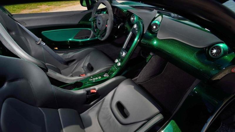 McLaren P1 carbon verde tuning interior