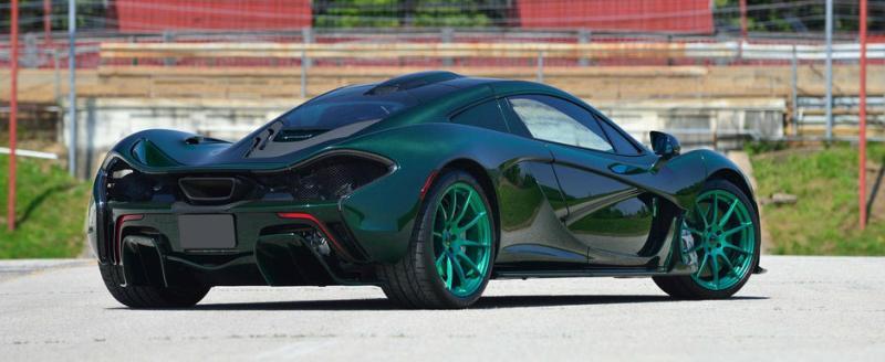 McLaren P1 carbon verde tuning